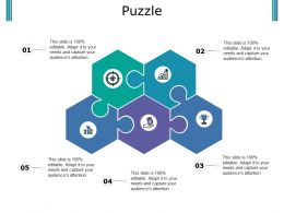 Puzzle Ppt Portfolio Brochure