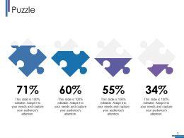 Puzzle Ppt Portfolio Infographic Template