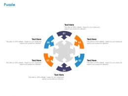 Puzzle Ppt Powerpoint Presentation Visual Aids Infographic Template