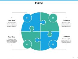 Puzzle Ppt Professional Slide Portrait