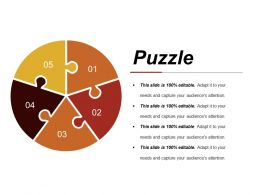 Puzzle Ppt Slide