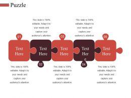 Puzzle Ppt Slides Mockup