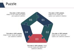 Puzzle Ppt Slides Portrait