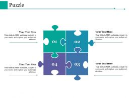 Puzzle Ppt Styles Background