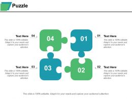 Puzzle Ppt Summary Background Designs