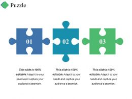 Puzzle Ppt Summary Graphics