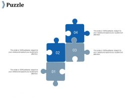 Puzzle Ppt Summary Infographic Template