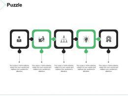 Puzzle Ppt Summary Portfolio