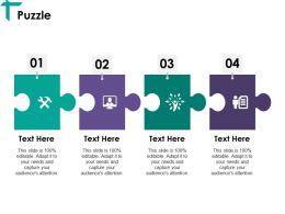 Puzzle Ppt Visual Aids Slides