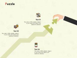 Puzzle Problem Solution L158 Ppt Powerpoint Presentation Guide