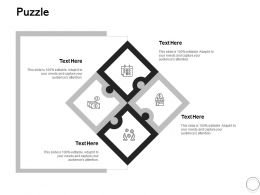 Puzzle Problem Solution L419 Ppt Powerpoint Presentation Show Design Ideas