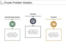 Puzzle Problem Solution Ppt Powerpoint Presentation Icon Brochure Cpb