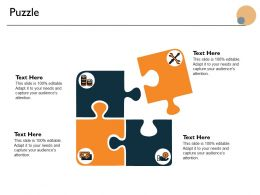 Puzzle Problem Solution Ppt Powerpoint Presentation Icon Demonstration
