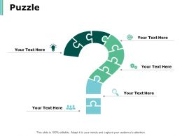 Puzzle Problem Solution Ppt Powerpoint Presentation Infographics Microsoft