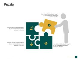 Puzzle Problem Solving Opportunity Ppt Powerpoint Presentation Portfolio Icons