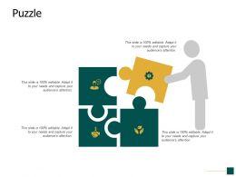 Puzzle Problem Solving Opportunity Ppt Powerpoint Presentation Portfolio Icons