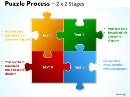 Puzzle Process 2 X 2 Stages