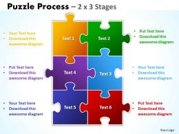 Puzzle Process 2 X 3 Stages