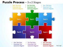 Puzzle Process 3 X 2 Stages
