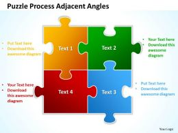 Puzzle Process Adjacent Angles Powerpoint Templates ppt presentation slides 812