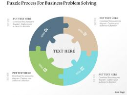Puzzle Process For Business Problem Solving Flat Powerpoint Design