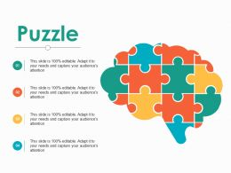 Puzzle Product Promotion Ppt Portfolio Layout Ideas