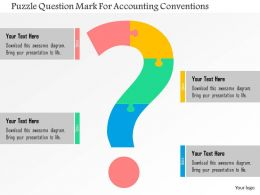 Puzzle Question Mark For Accounting Conventions Flat Powerpoint Design