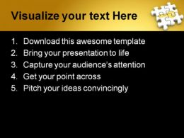 Puzzle Shapes PowerPoint Template 0910  Presentation Themes and Graphics Slide02