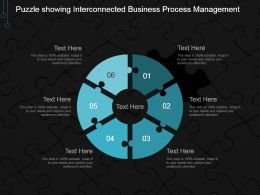 Puzzle Showing Interconnected Business Process Management Ppt Ideas