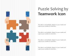 Puzzle Solving By Teamwork Icon