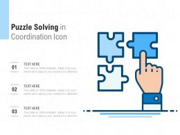 Puzzle Solving In Coordination Icon