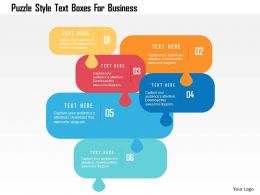 Puzzle Style Text Boxes For Business Flat Powerpoint Design