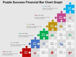 Puzzle Success Financial Bar Chart Graph Flat Powerpoint Design