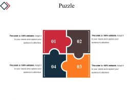 Puzzle Template 3 Powerpoint Slide Background Designs