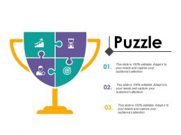 Puzzle With Four Icons Change Management Introduction Ppt Icon Format