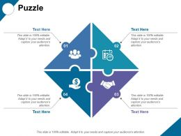 Puzzle With Four Icons Ppt Professional Graphics Tutorials