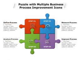 Puzzle With Multiple Business Process Improvement Icons