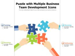 Puzzle With Multiple Business Team Development Icons