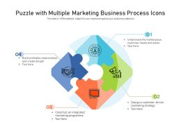 Puzzle With Multiple Marketing Business Process Icons