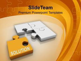 Puzzle With Solution Puzzle Business PowerPoint Templates PPT Themes And Graphics 0213