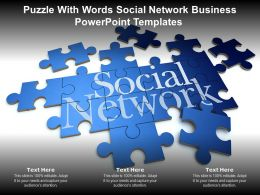 Puzzle With Words Social Network Business Powerpoint Templates