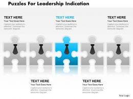 Puzzles For Leadership Indication Powerpoint Template