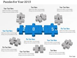 Puzzles For Year 2015 Powerpoint Template