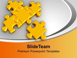 Puzzles Interconnected Problem Solution PowerPoint Templates PPT Themes And Graphics 0213