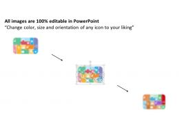 Puzzles With Multiple Business Icons Flat Powerpoint Design