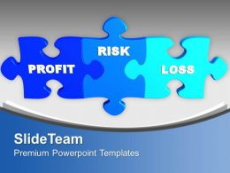 Puzzles With Profit Risk And Loss Business Powerpoint Templates Ppt Themes And Graphics 0313