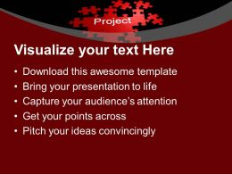 Puzzles With Word Project Finance PowerPoint Templates PPT Backgrounds For Slides 0113