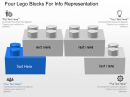 pv Four Lego Blocks For Info Representation Powerpoint Template