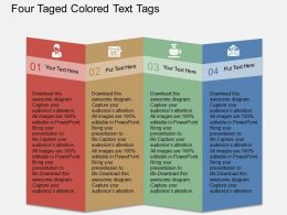 Pv Four Taged Colored Text Tags Flat Powerpoint Design