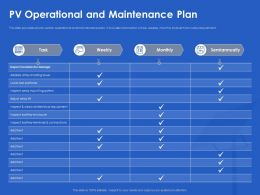PV Operational And Maintenance Plan Array Ppt Powerpoint Presentation Layouts Shapes